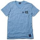 "430 PRINTED S/S V NECK TEE ""EQUAL 430"""